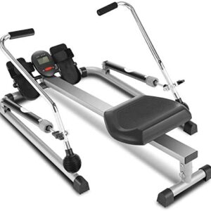 ANCHEER Hydraulic Rowing Machine, Full Motion Adjustable Rower wi