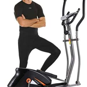 ANCHHER APP Elliptical Machine, Compact Elliptical Trainer with 1
