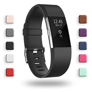 POY Replacement Bands Compatible for Fitbit Charge 2, Classic Edi...