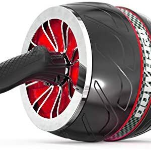TECHMOO Ab Roller Wheel Exercise Equipment for Core Workout Sturd