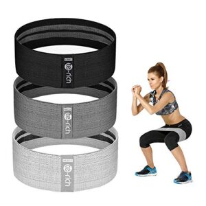 Te-Rich Resistance Bands for Legs and Butt, Fabric Workout Loop B...