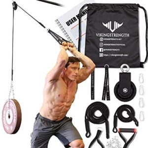 Vikingstrength Pulley System, Cable Pulley Gym Equipment Machine