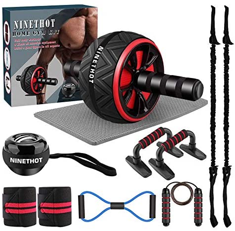Ab Roller Set,9-in-1 Abs Workout Equipment,Home Gym Kit with Knee