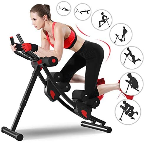Ab Machine, Enow 11 in 1 Foldable Abs Workout Equipment, Height A