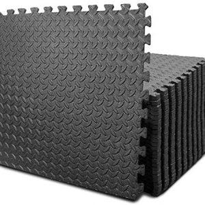 BEAUTYOVO Puzzle Exercise Mat with 12/24 Tiles Interlocking Foam