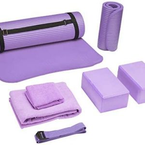 BalanceFrom GoYoga 7-Piece Set - Include Yoga Mat with Carrying S