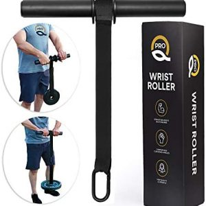 Q Pro Forearm Workout Equipment - Wrist Roller - Forearm Exercise