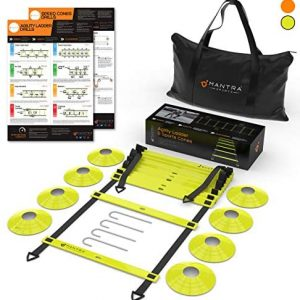 20ft Agility Ladder & Speed Cones Training Set - Exercise Workout Equip