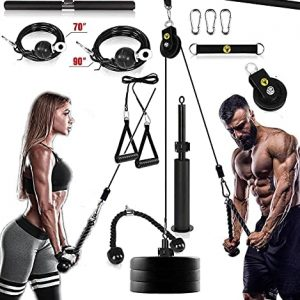 Pulley System Gym Pully Exercise Equipment for Fitness LAT Pull Down an